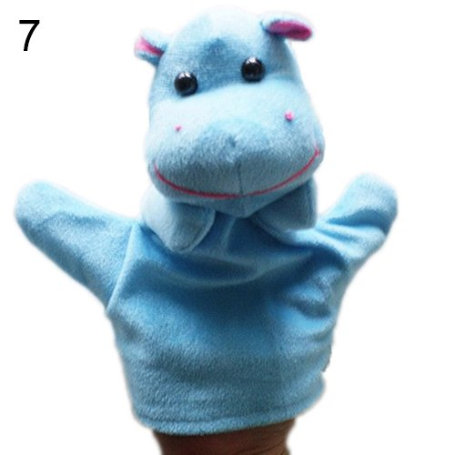 [Delicate Baby Child Zoo Farm Animal Hand Glove Puppet Finger Sack Plush Toy^hippo.] (Kermit The Frog Mens Halloween Costume)