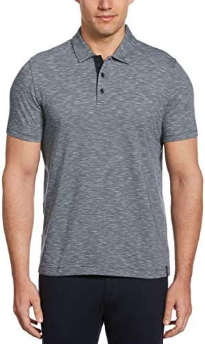 Perry Ellis Men`s Textured Short Sleeve Polo Shirt