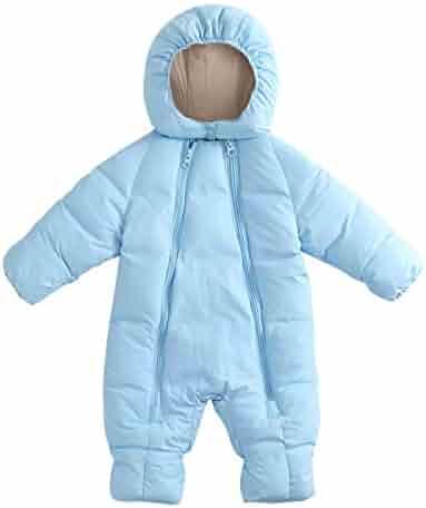 Sameno Infant Baby Clothes 0-24 M Cotton Bodysuit Boy Girl Romper Fur Hooded Jumpsuit Warm Coat Outfit Winter Snowsuit