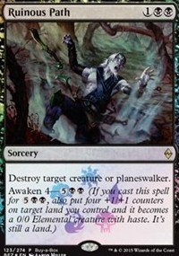 Magic: the Gathering - Black - Magic: the Gathering - Ruinous Path (123/274) - Buy A Box Promos - Foil