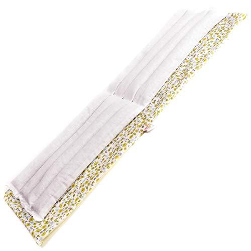 Faja térmica lumbar de semillas para microondas (60x20 cm) Hecha con tela de algodón 100%, con funda lavable y olor relajante a lavanda.