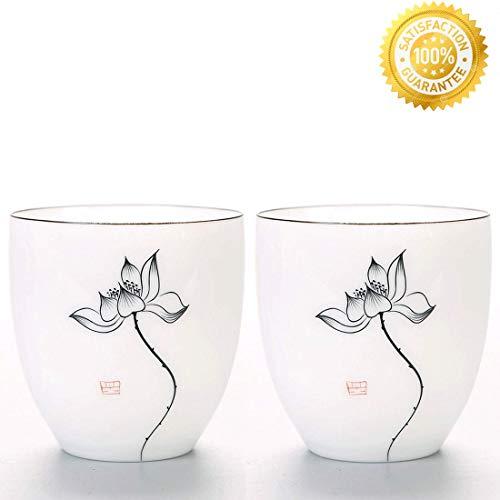 Antique White Teacup - QMFIVE Hand painted ceramic cup white porcelain cup (BKH)