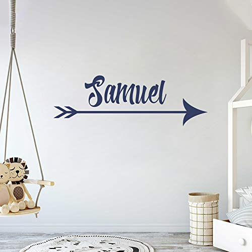 Custom Arrow Name Gold Series - Baby Girl - Wall Decal Nursery for Home Bedroom Children(782) (Wide 42x 13 Height)
