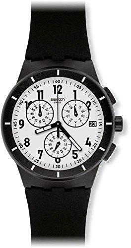 SWATCH watches CHRONO PLASTIC TWICE AGAIN BLACK SUSB401 Men's [regular imported goods]