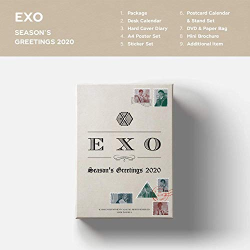K-POP EXO - 2020 Season's Greetings incl. All package, Extra Photocards Set