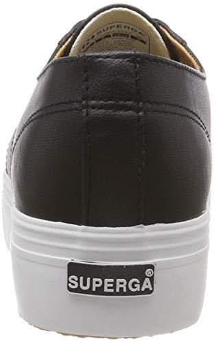 Schwarz nappaleaw Zapatillas white C39 Superga Mujer Para 2790 black OX5EwxqTx