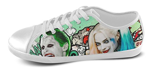 Pop Vrouwen Antislip Schoenen Dames Canvas Schoenen Antislip Sneaker Dames Voor Zelfmoord Squad Fans White01