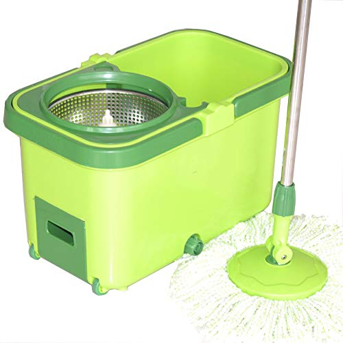 FLHAINVER Rotating mop mop with carry-on wheel with invisible roller double drive mop Rotary mop home