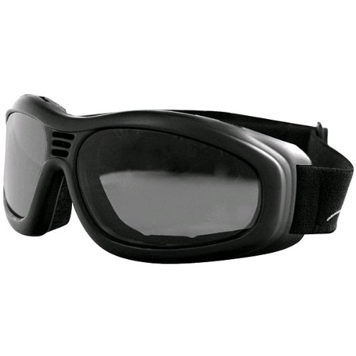 Bobster Touring 2 Adult Touring Motorcycle Goggles Eyewear - Black/Smoke / One Size Fits All