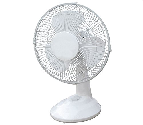 Energy efficient oscillating quiet speed desk fan for Air circulation fans home