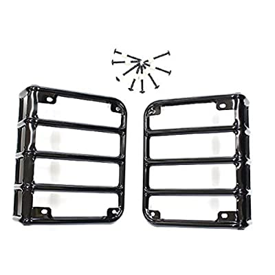 IParts Stainless Steel Guard Light Kit for 2007-2016 Jeep Wrangler JK Pair