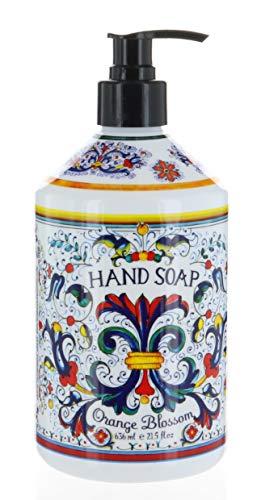 Italian Deruta Hand Soap, Orange Blossom, 21.5 FL OZ by Home & Body Company