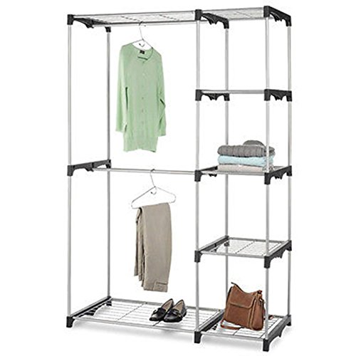 closet-organizer-storage-rack-portable-clothes-hanger-home-garment-shelf-rod-g68