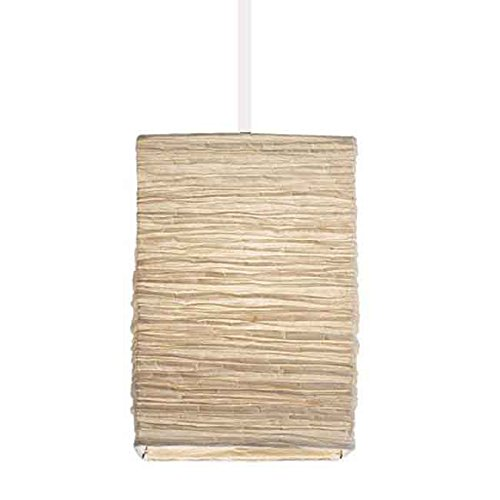 BHG Asian Rice Paper Lantern Pendant Lamp Shade Kit with 15.5' Plug-in Light Socket Cord , White