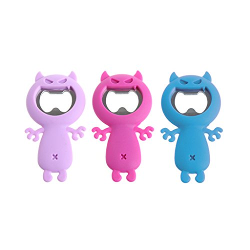GaoCold Cute Wolf Shaped Silicone Beer Bottle Opener Stainless Steel Coke Juice Drink Bar Party - Coke Bottle Sunglasses
