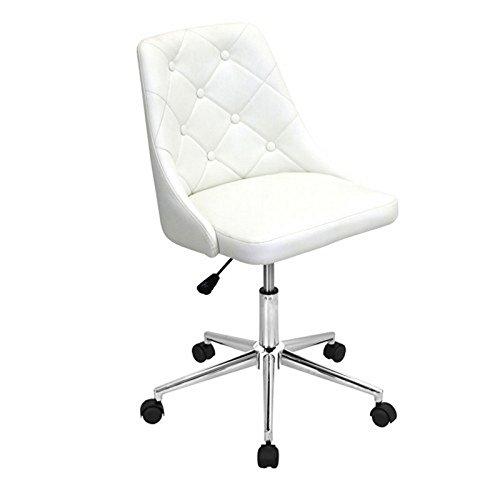 WOYBR OFC-MARCHE W Pu, Foam, Chrome, Marche Office Chair Review