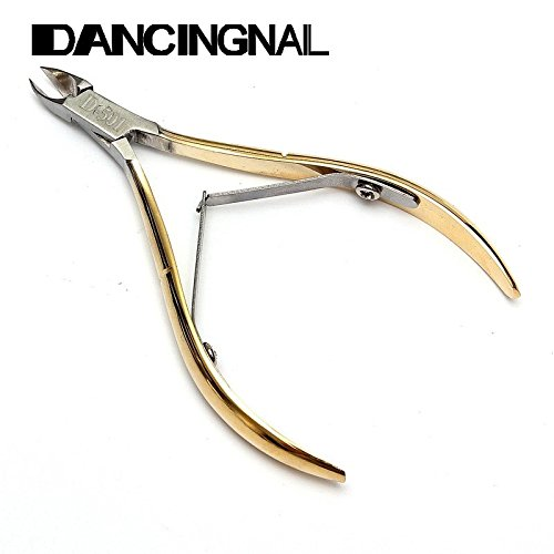 GOLD Stainless Cuticle Scissors Cutter Manicure Pedicure Nail Tools Foot Hand Dead Skin Remover Beauty Makeup Cuticle Clipper Nipper