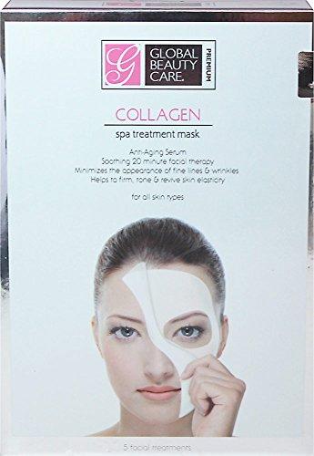 Beauté globale soins Spa traitement masque de collagène pour une peau toutes les Types 5pc
