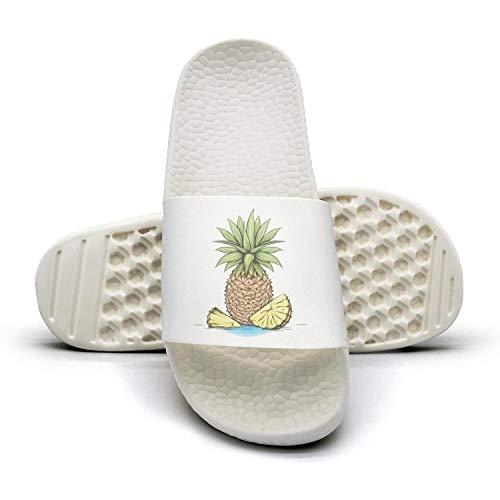 Hawaiian Women's Casual Black Fashion Summer Slippers Gold Summer Sandals Pineapple Favors Hello Pineapple UqwvBrUx