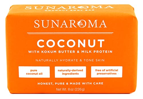 Sunaroma Soap Bar Coconut 8 Ounce 236ml 6 Pack