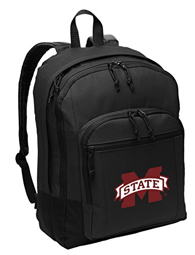Mississippi State University Backpack Classic Style MSU Bulldogs Backpack Laptop Sleeve -