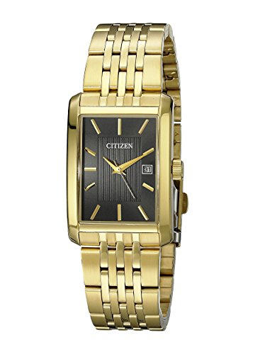 Citizen Men's BH1673-50E Rectangular Gold-Tone Stainless Ste...