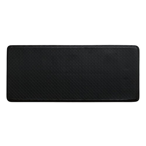 """Mat 6 Classic Floor (GelPro Classic Anti-Fatigue Kitchen Comfort Chef Floor Mat, 20x48"""", Basketweave Black Stain Resistant Surface with 1/2"""" Gel Core for Health and Wellness)"""