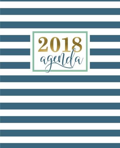 Agenda: 2018 Agenda semana vista espaol : 190 x 235 mm, 160 g/m : Moderno estampado de rayas geomtricas en verde azulado (Calendarios, agendas y ... personales) (Volume 14) (Spanish Edition)