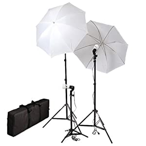 CowboyStudio Photography & Video Portrait Umbrella Continuous Triple Lighting Kit
