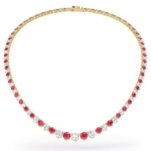 Jian London Collier rivière en argent serti de rubis et de diamants Stardust Or