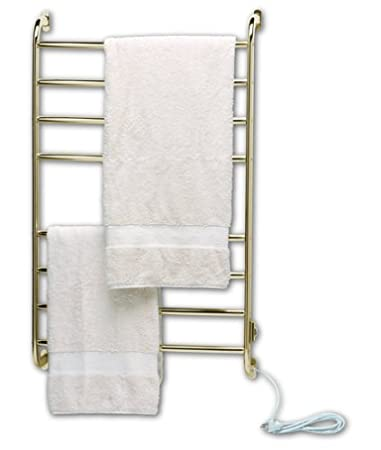 warmrails kensington wall mounted towel warmer and drying rack brass - Towel Warmer Rack