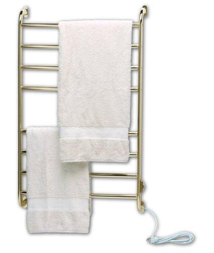 Warmrails Kensington Wall Mounted Towel Warmer and Drying Rack, Brass (Towel Warmrails Nickel Rack)