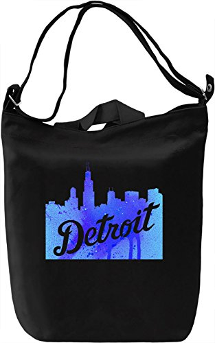 Detroit Skyline Borsa Giornaliera Canvas Canvas Day Bag| 100% Premium Cotton Canvas| DTG Printing|