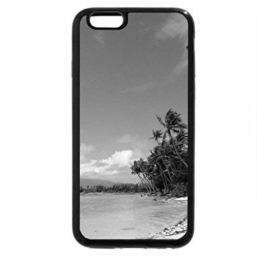 iPhone 6S Case, iPhone 6 Case (Black & White) - Sandy Beach