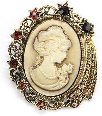 ZHENZHIA Broche Broches Victorianos Antiguos Broches de Cristal de época Accesorios de Camisa de Vestir de Mujer: Amazon.es: Joyería