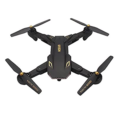 Goolsky VISUO XS809S 2.0MP Wide Angle Camera Wifi FPV Foldable Drone One Key Return Altitude Hold G-sensor Quadcopter w/One Extra Battery from Goolsky