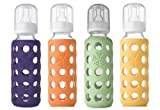 Lifefactory Bpa-free Glass Baby Bottle-4 Pack (9 oz. in Gender Neutral Colors), Baby & Kids Zone