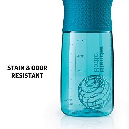 BlenderBottle SportMixer Twist Cap Tritan Grip Shaker Bottle, 28-Ounce, Plum
