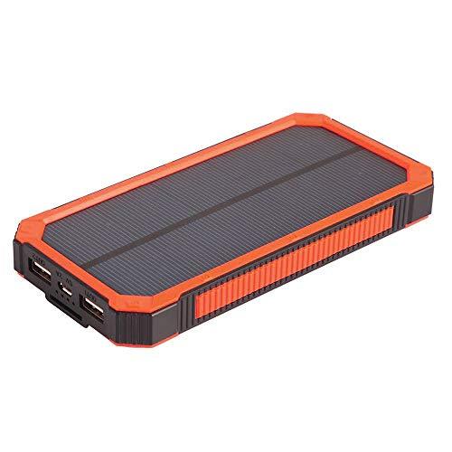❤️Gmgod❤️12000mAh LED Dual USB Ports Solar Panel Power Bank Case Charger Kits (Orange) ()