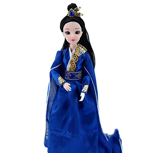 Dolls Antique Legs Porcelain - Oriental Dressed Up Heroine Beauty, Posable Ancient Doll with Handcrafted Costume and Exquisite Hairstyle, Figurine Doll Collectible Figurine Decoration Statue for Girls