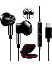 ACOCOBUY USB C Hoofdtelefoon met Microfoon USB C Oortelefoon Noise Cancelling USB Type C Hoofdtelefoon In Ear met Microfoon Bedraad voor Samsung Z Flip 2/S20 FE/S21, OnePlus Nord/8T/9 Pro, Poco F3