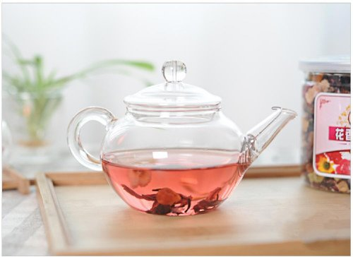 Yeme Small Glass Teapot Heat Resistant 8.8-ounce or 250ml  (015)