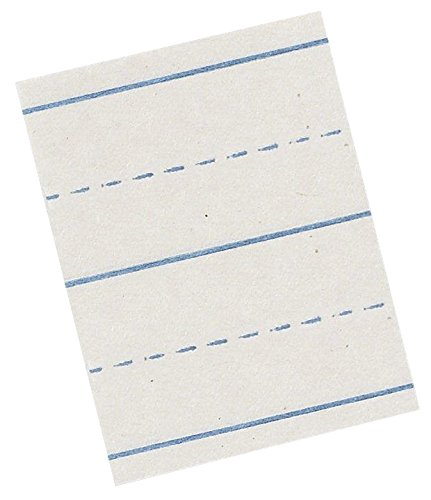 School Smart Picture Story Alternate Ruled Paper - 18 in x 12 in - Pack of 500 - Newsprint