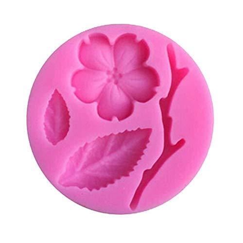 Slendima 2.20'' x 0.39'' Silicone Peach Blossom DIY Fondant Cake Mold Kitchen Decorating Baking Tool by Slendima (Image #1)