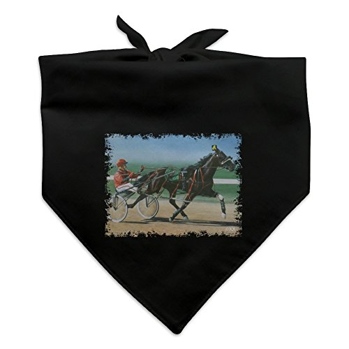 Graphics and More Harness Racing Horse Sulky Trotter Dog Pet Bandana - Black -  BND.BLK.QQJQLMG00.Z001443_8