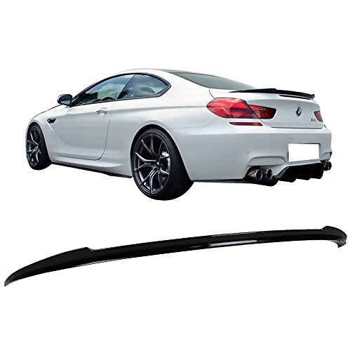 Price comparison product image Pre-painted Trunk Spoiler Fits 2012-2017 BMW F12 6 Series / V Style ABS 475 Black Sapphire Metallic Rear Tail Lip Deck Boot Wing By IKON MOTORSPORTS / 2013 2014 2015 2016