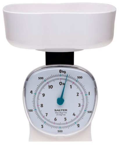amazon com salter kitchen scale with clear bowl 11 pound white