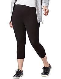 9aa45e8692285 Plus Size Petite Stretch Cotton Capri Legging