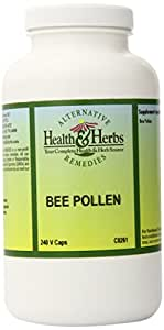 Alternative Health & Herbs Remedies Bee Pollen Capsules, 240-Count Bottle