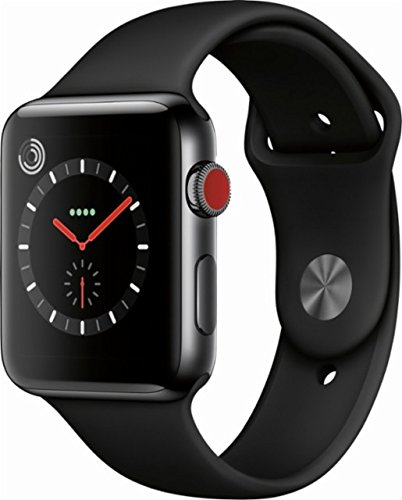 Limited Edition Ceramic - Apple Watch Series 3 42mm Smartwatch (GPS + Cellular, Gray Ceramic Case, Black Sport Band) Limited Edition (Refurbished)